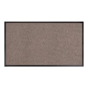 AmazonBasics Molded Carpet & Rubber Commercial Scraper Entrance Mat Square Pattern 3x5 Gray