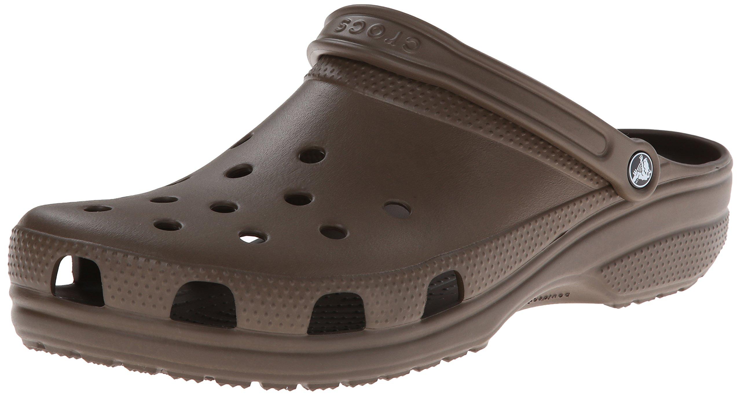 Crocs Women's Classic Clog|Comfortable Slip On Casual Water Shoe, Chocolate, 11 M US Women / 9 M US Men by Crocs