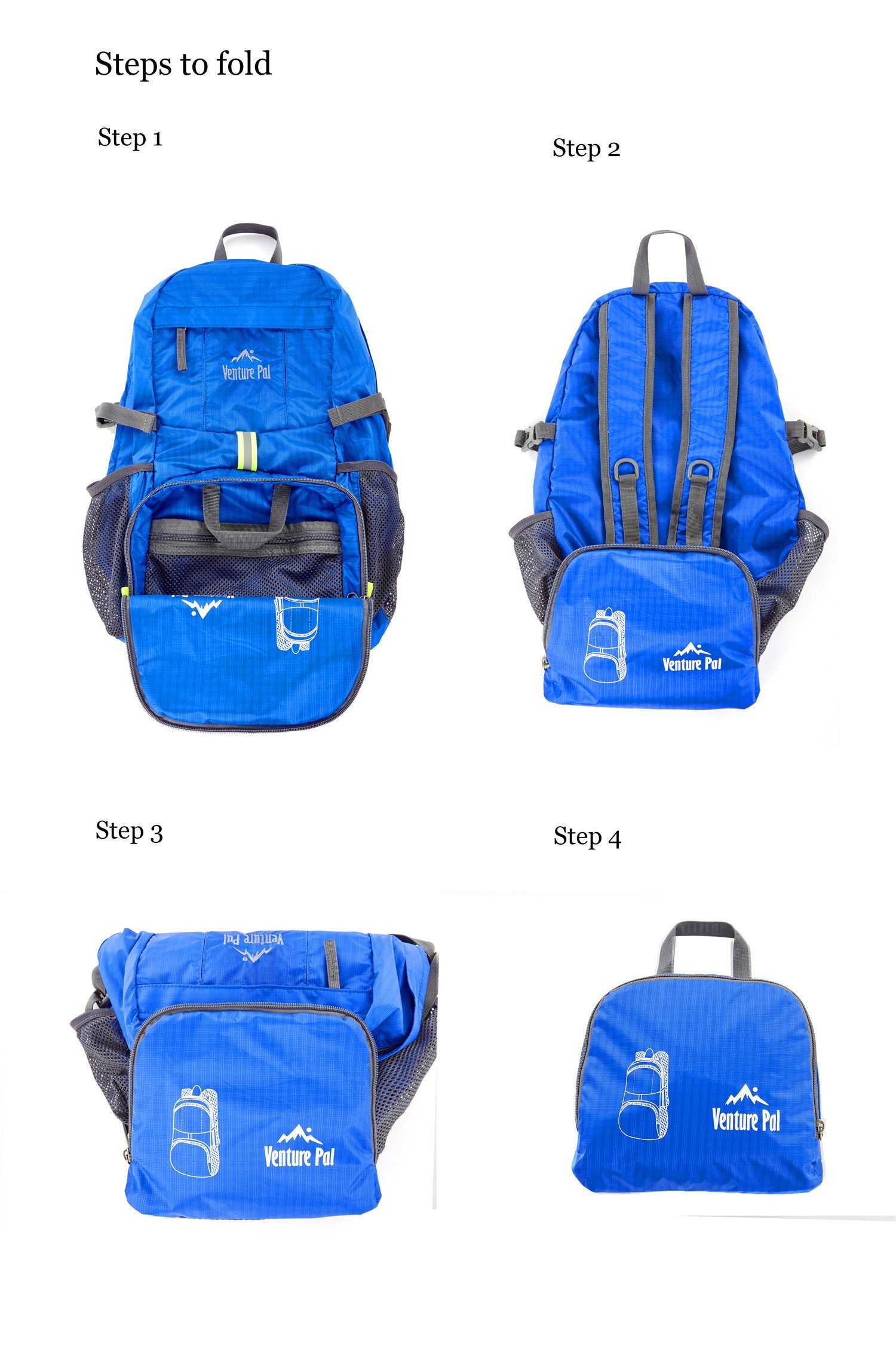 d1dcca06dd Venture Pal Lightweight Packable Durable Travel Hiking Backpack Daypack  (Royal Blue) … - VP001E-RoyalBlue   Hiking Daypacks   Sports   Outdoors -  tibs