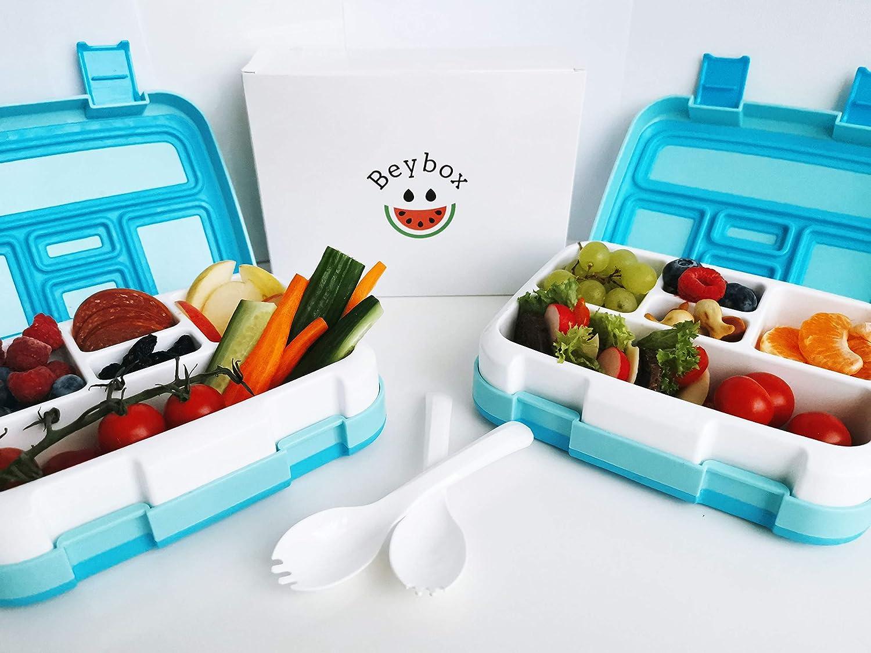 brotdose f/ür Kinder,bento Box f/ür Kinder Vesperbox Vesperbox f/ür Kinder brotdose Lunchbox mit F/ächern,f/ür Kinder|Brotdose mit 5 F/ächern|Auslaufsicher |robust|BPA Schadstofffrei Beybox Bento Box