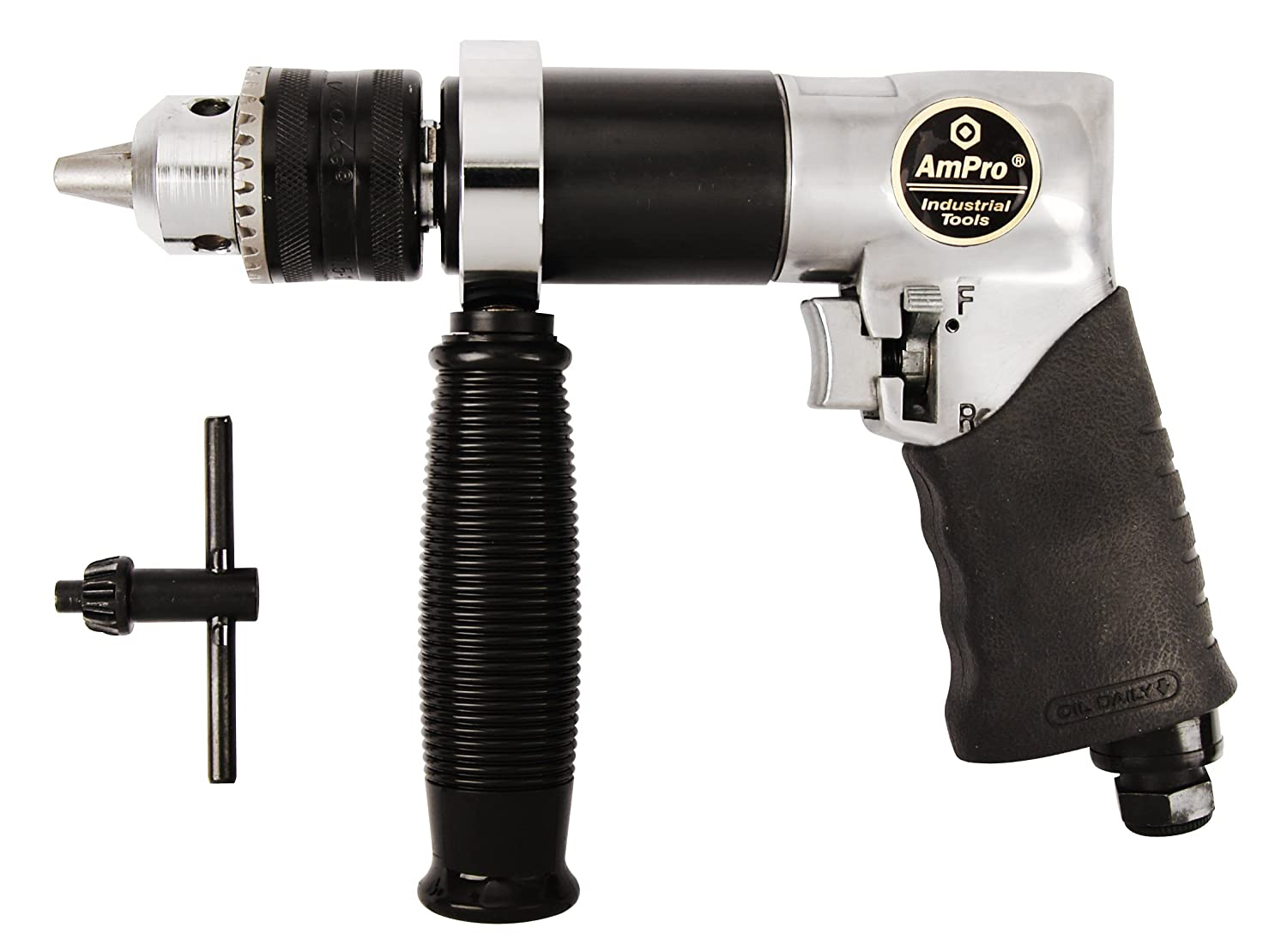 AMPRO A2440 1//2-Inch Heavy Duty Reversible Air Drill 800 RPM Ampro Industries