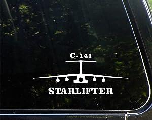 "Diamond Graphics Starlifter C-141 Airplane (8-3/4"" X 3-3/4"") Die Cut Decal Bumper Sticker for Windows, Cars, Trucks, Laptops, Etc."