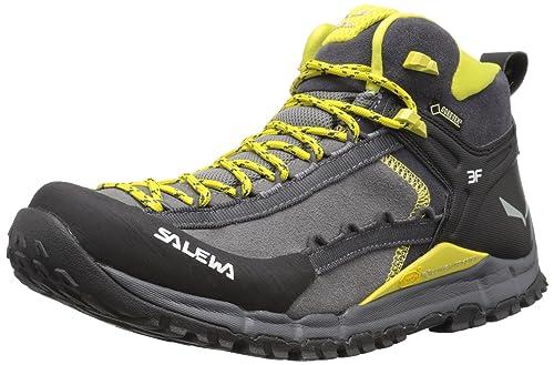 Salewa MS Hike Roller Mid GTX, Zapatillas de Deporte Exterior para Hombre, Gris/Amarillo (Pewter/Kamille 4058), 44 1/2 EU: Amazon.es: Zapatos y complementos