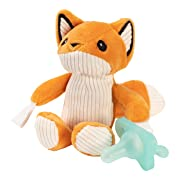 Dr. Brown's Lovey Pacifier and Teether Holder, 0 Months+, Fox with Teal