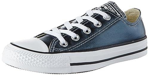 0324f9deb70e75 Converse Unisex Adults  CTAS Ox Blue Fir White Black Trainers ...