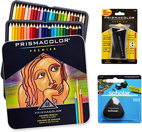 Set Prismacolor de arte de calidad. Pack de 48 lápices de colores ...