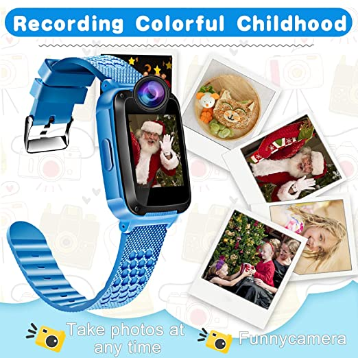 ... Kids Smartwatch for 3-12 Year Boys Girls Touch Screen Camera Game Alarm Clock Sport Outdoor Digital Wrist Cellphone Watch Bracelet for Birthday Gift: ...
