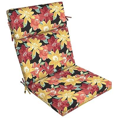 Arden Companies Arden Selections Ruby Abella Floral Dining Chair Cushion : Garden & Outdoor