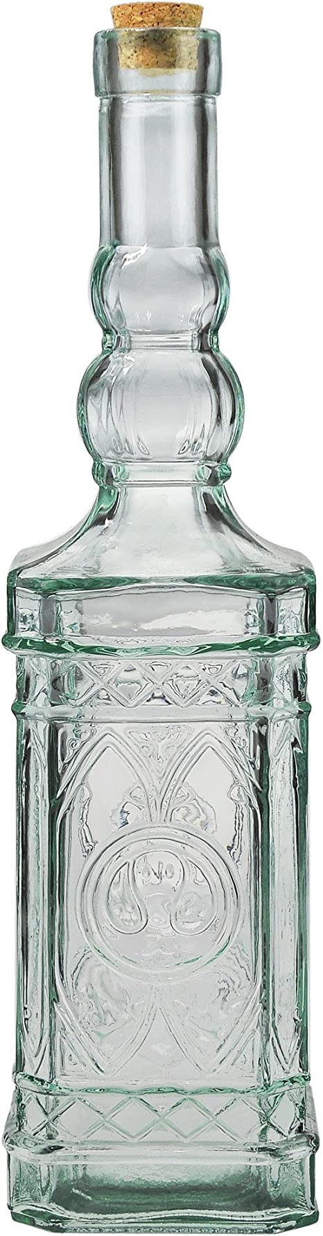 Couronne Company Clear Ornate Decorative Bottle With Cork G5033 23 7oz 1 Piece 700ml Home Kitchen