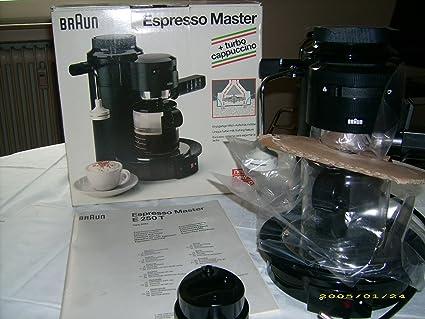 amazon com braun espresso master machine e250t kitchen dining rh amazon com Braun Espresso White Braun Espresso Manual