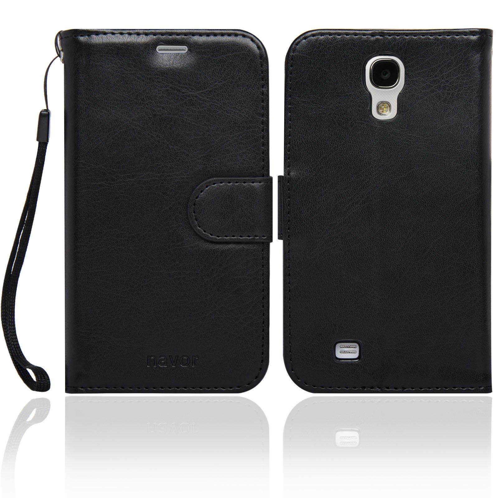 Navor Protective Flip Wallet Case for Samsung Galaxy S4 - Black (S4O-BK) by navor (Image #2)