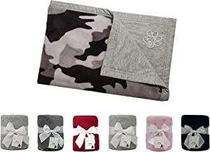 MFG DESIGN Reversible Double-Sided Pet Throw Fleece Blanket. Perfect for Home, Couches, Pet Beds, and Anywhere Your Dogs Cats Hangs Out. Super Soft, Warm, Durable and Washable