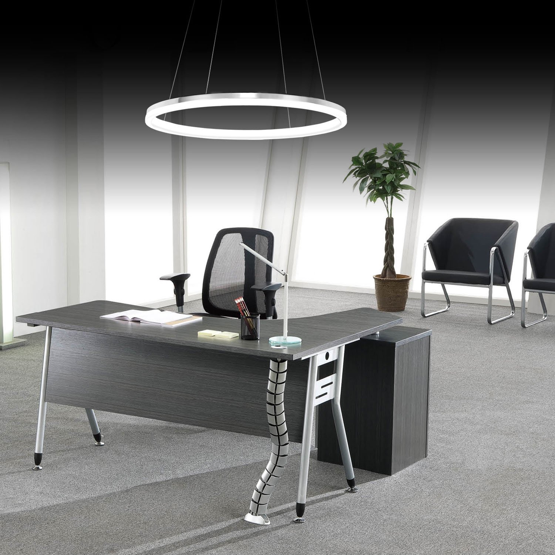 LightInTheBox Modern Design Pendant Lights/20W LED Acrylic Single Ring Chandelier Lighting Fixture Fit for Living Room, Dining Room,Study Room/Office White