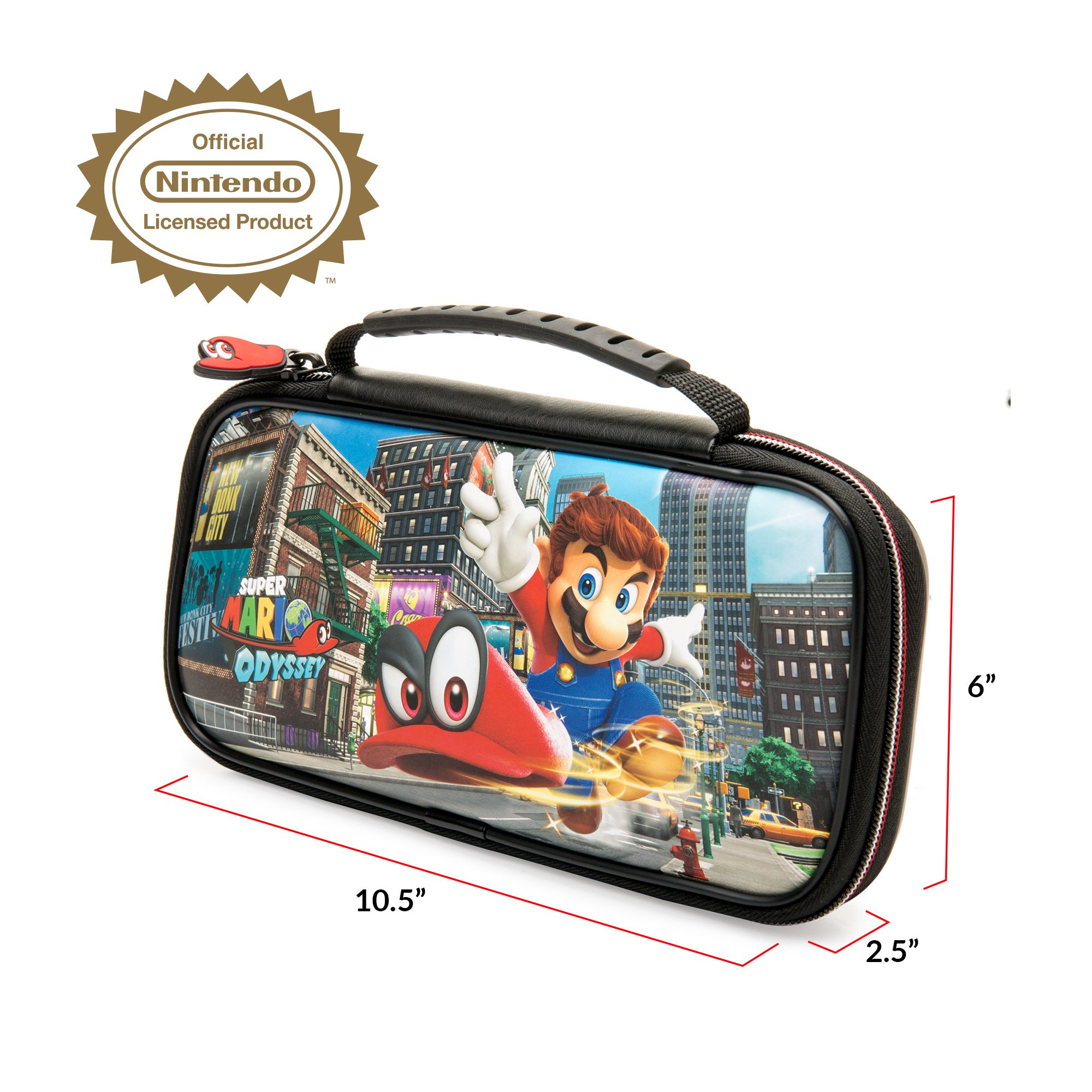 Rds Industries Nns58 Nintendo Switch Game Traveler Deluxe Case With Switchsuper Mario Odyssey Super Carrying Protective Travel Pu Leather Exterior Official Licensed Product