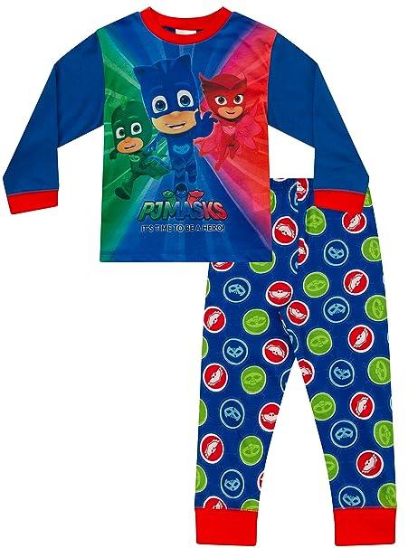 Pijama de PJ Masks para niños de 3 a 7 años Azul