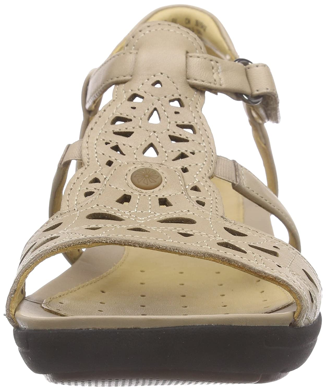 982180f07f0 Clarks Women s Un Valencia Sand Brown Leather Fashion Sandals - 9 UK India  (43 EU)  Buy Online at Low Prices in India - Amazon.in