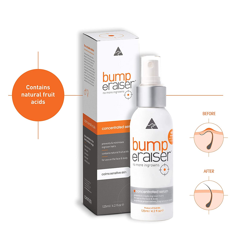 Bump eRaiser Concentrated Ingrown Hair Serum for Ingrown Hair Treatment, Razor Burns and Razor Bumps