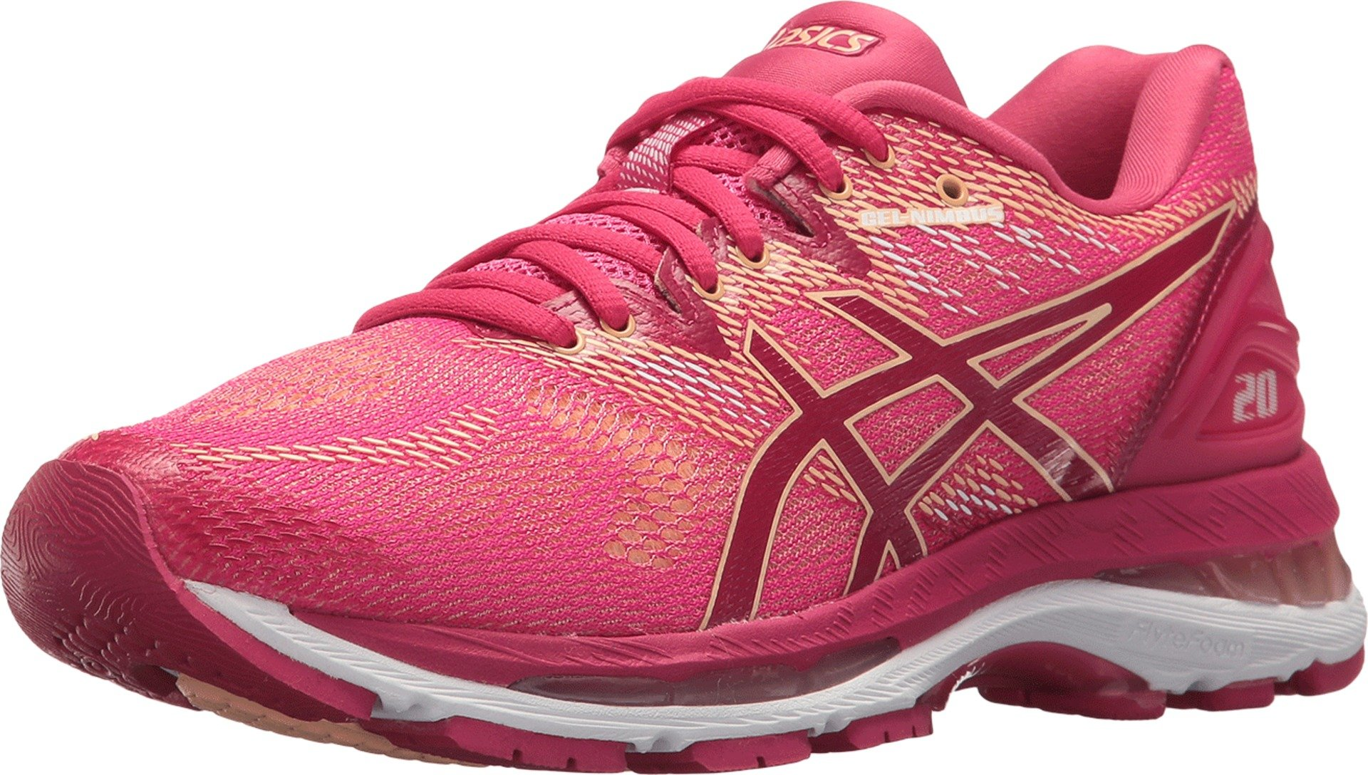 ASICS Women's Gel-Nimbus 20 Running Shoe, Rose, 8 M US by ASICS