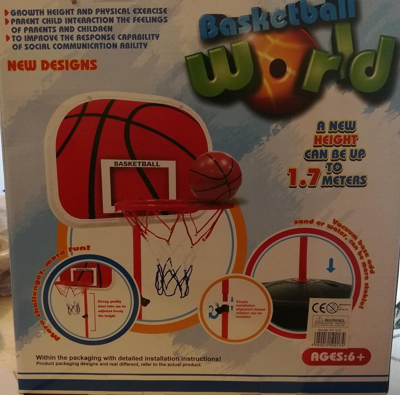 1.7M Adjustable Kids Basketball Set Back Board Stand Net Toy Indoor Outdoor Game SDL