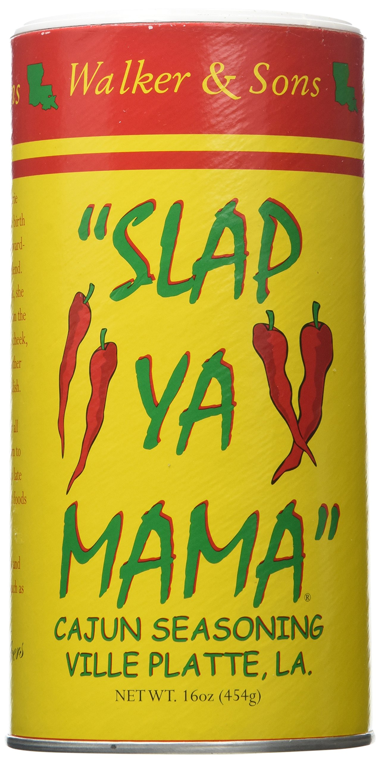 Slap Ya Mama Original Blend Seasoning, THREE 16-Ounce Canisters, Pack of 3