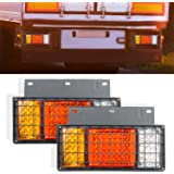 Amazon com: NPAUTO 5pcs Freightliner Cab Lights 6 LED Amber Roof