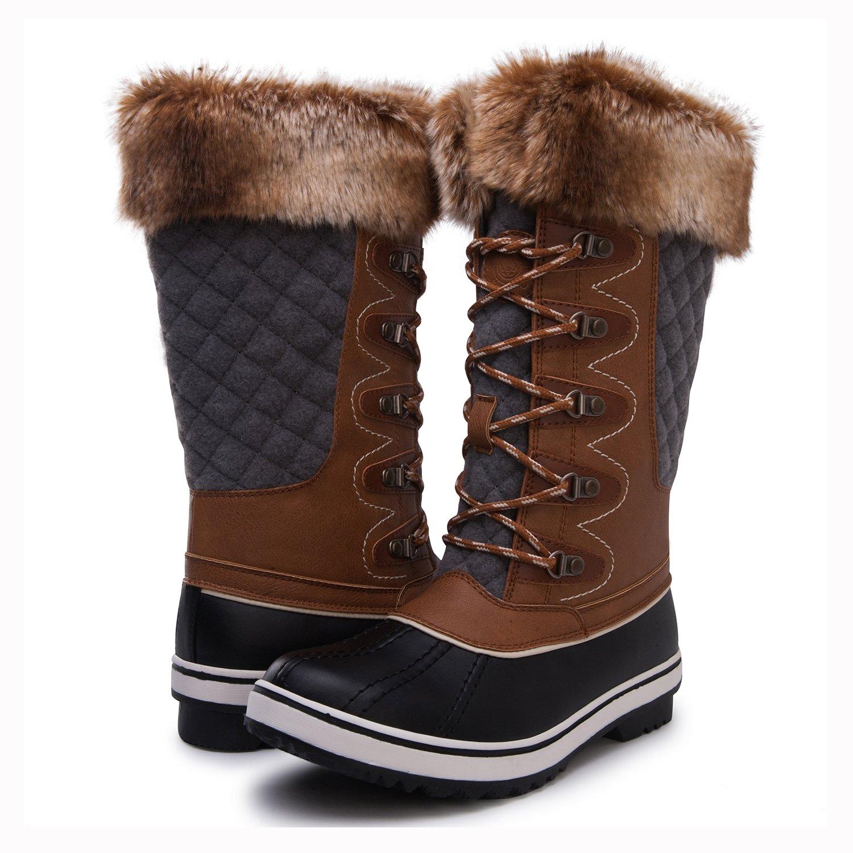 Kingshow Women's Globalwin Waterproof Winter Boots B072XZPGNB 10 B(M) US 1715camel