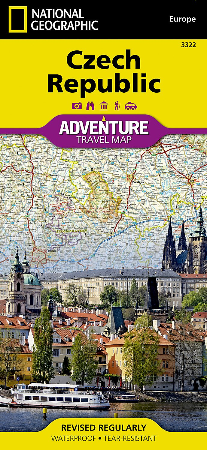 Czech Republic National Geographic Adventure Map National