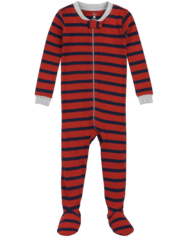 Petit Lem Boys' Fire Stripe 1 Piece Footie Pajama 16FF09DU04