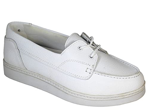 7fb32a6e0b1 Ladies Henselite Julie WIDE FIT Leather Lawn Bowling Shoes White UK ...