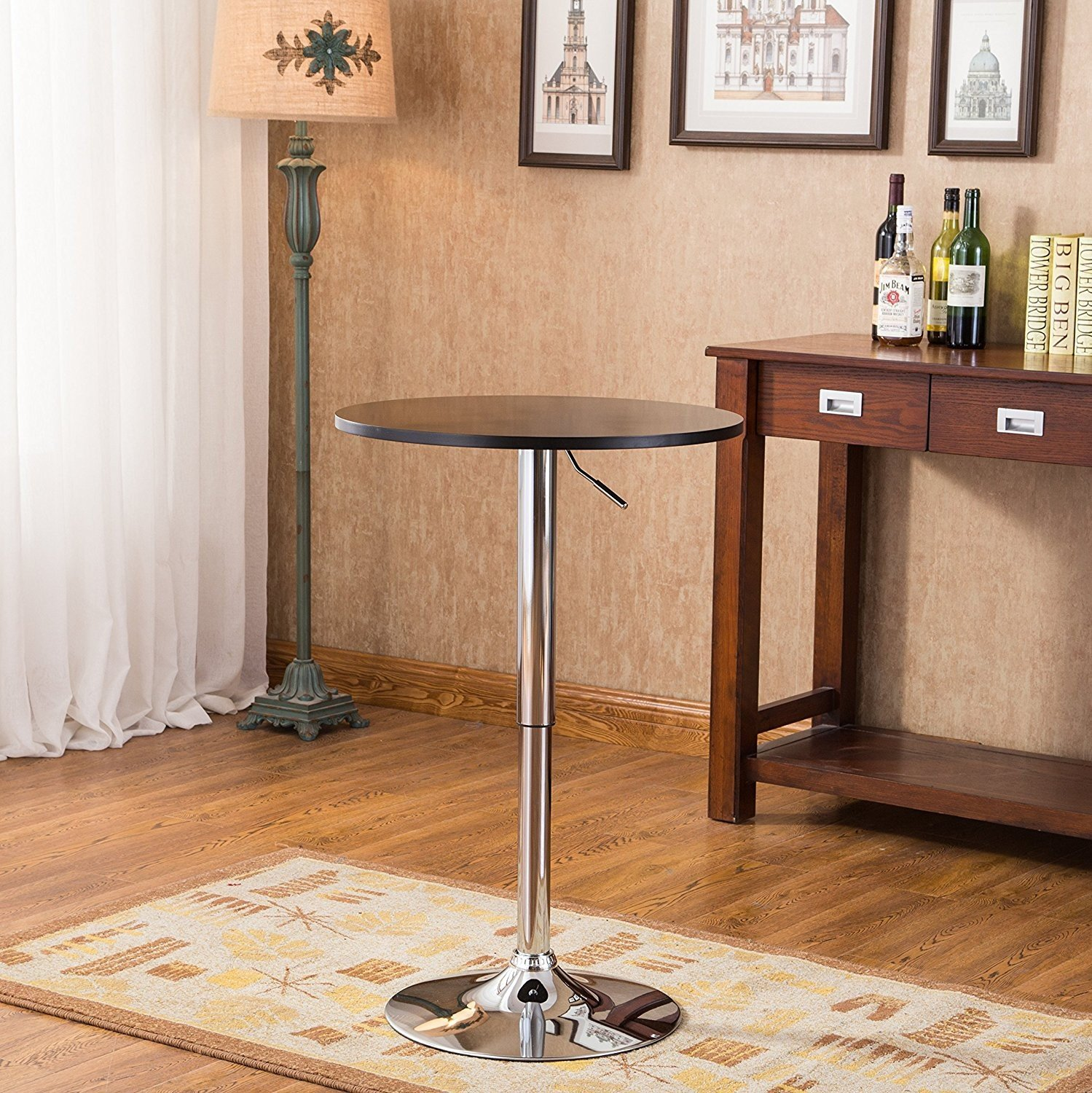 Indoor Multi-function Accent table Study Computer Desk Bedroom Living Room Modern Style End Table Sofa Side Table Coffee Table Metal Bar Table