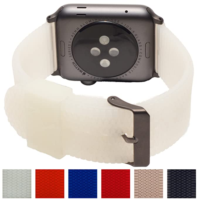 Amazon.com: CARTERJETT correa de reloj Apple en silicona con ...
