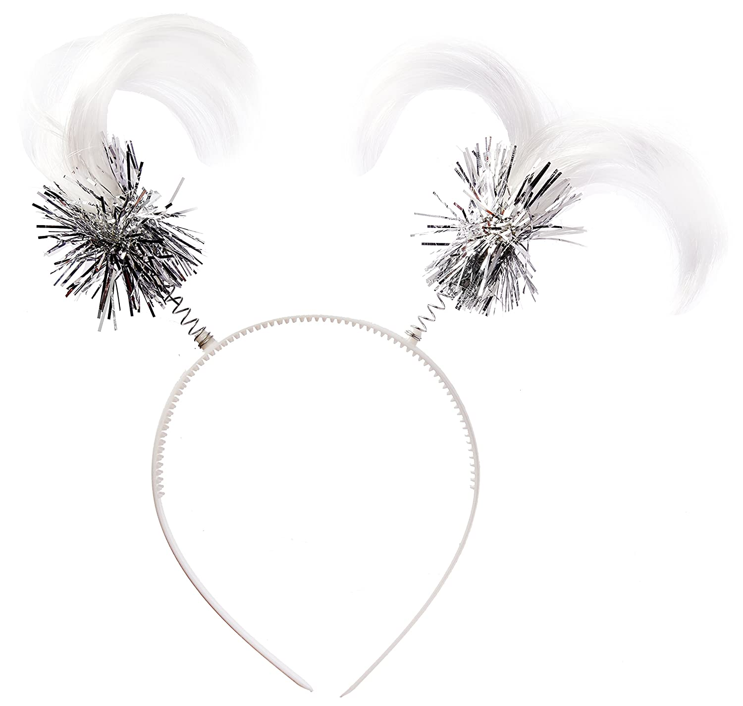 12 Ct Party Accessory Amscan White Ponytail Headbands 399414.08 TradeMart Inc