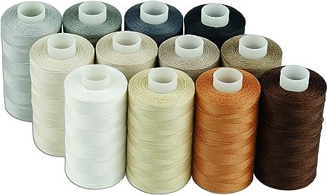 Simthread - Hilo de algodón para costura (50 s/3 hilos, para ...