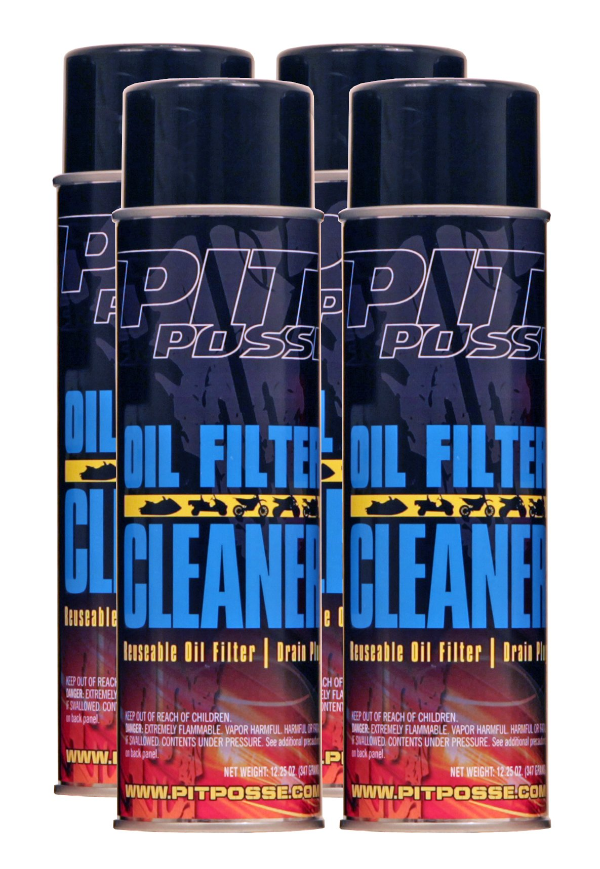 Pit Posse Oil Filter Cleaner (12 oz Cans) 4