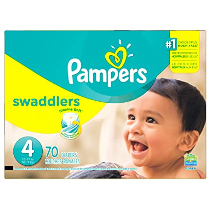Pampers Swaddlers Diapers Size 4 Super Pack 70 Count, 70 Count by Procter & Gamble