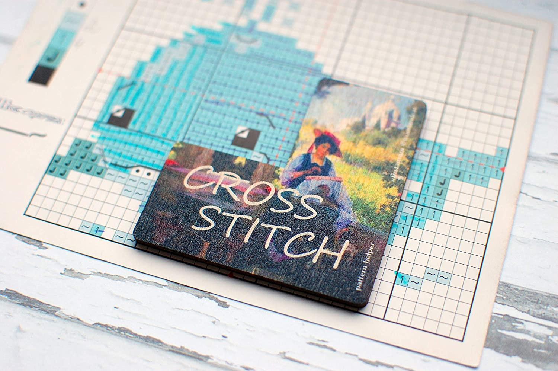 Hand embroidery Location pin Cross Stitch Needle Minder Wood Magnetic Needle Minder Needle Keeper.