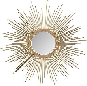 Madison Park Fiore Sunburst Mirror, Small, Gold