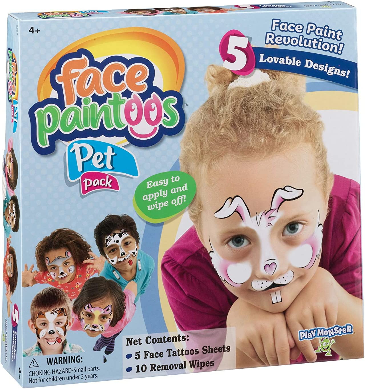 Amazon Com Playmonster Face Paintoos Pet Pack Brown A Toys Games