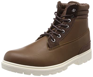 Urban Classics Herren Winter Boots Chukka, Braun (Brown/Darkbrown), 41 EU