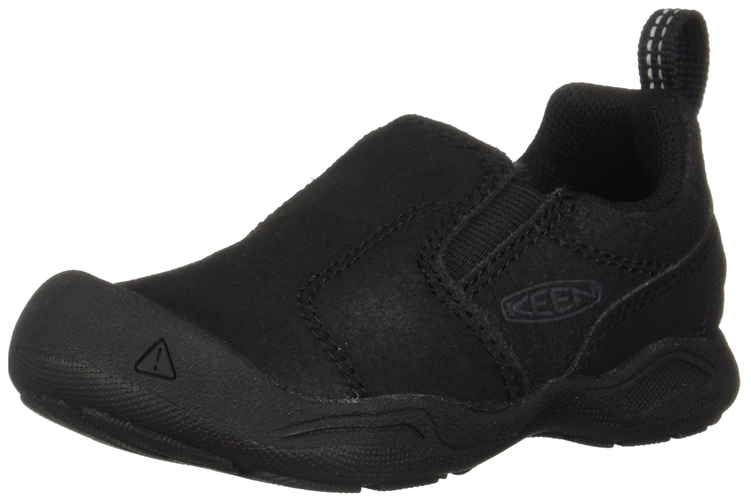 KEEN Unisex Jasper Slip-ON Hiking Shoe, Black/Raven, 12 M US Little Kid