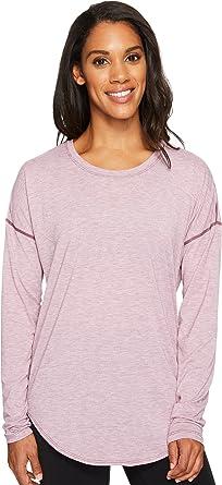 Lucy Women's Final Rep Long Sleeve Top Grape Wine Heather Shirt