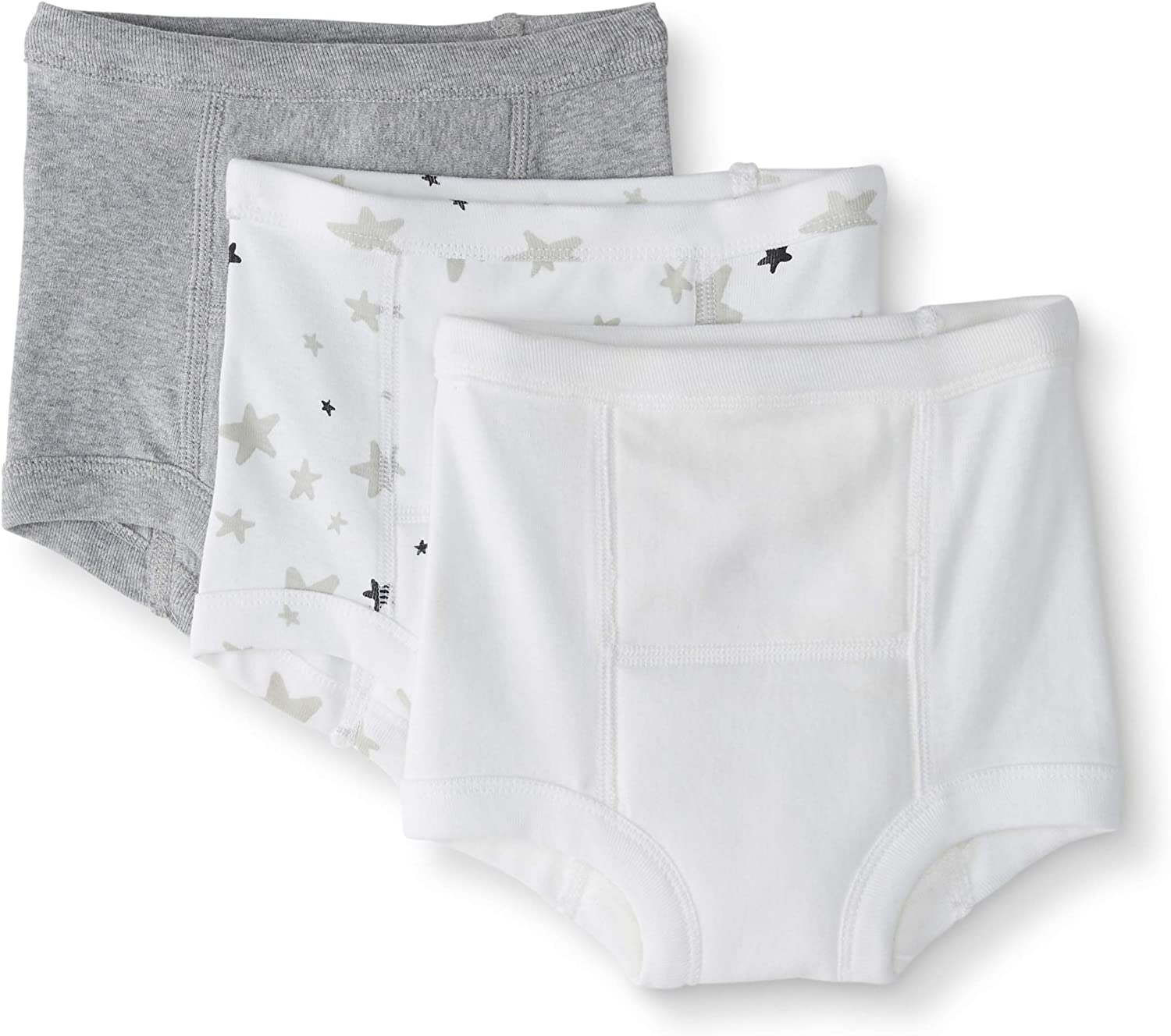 Moon and Back by Hanna Andersson Toddler Boys and Girls 3-Pack Training Underwear