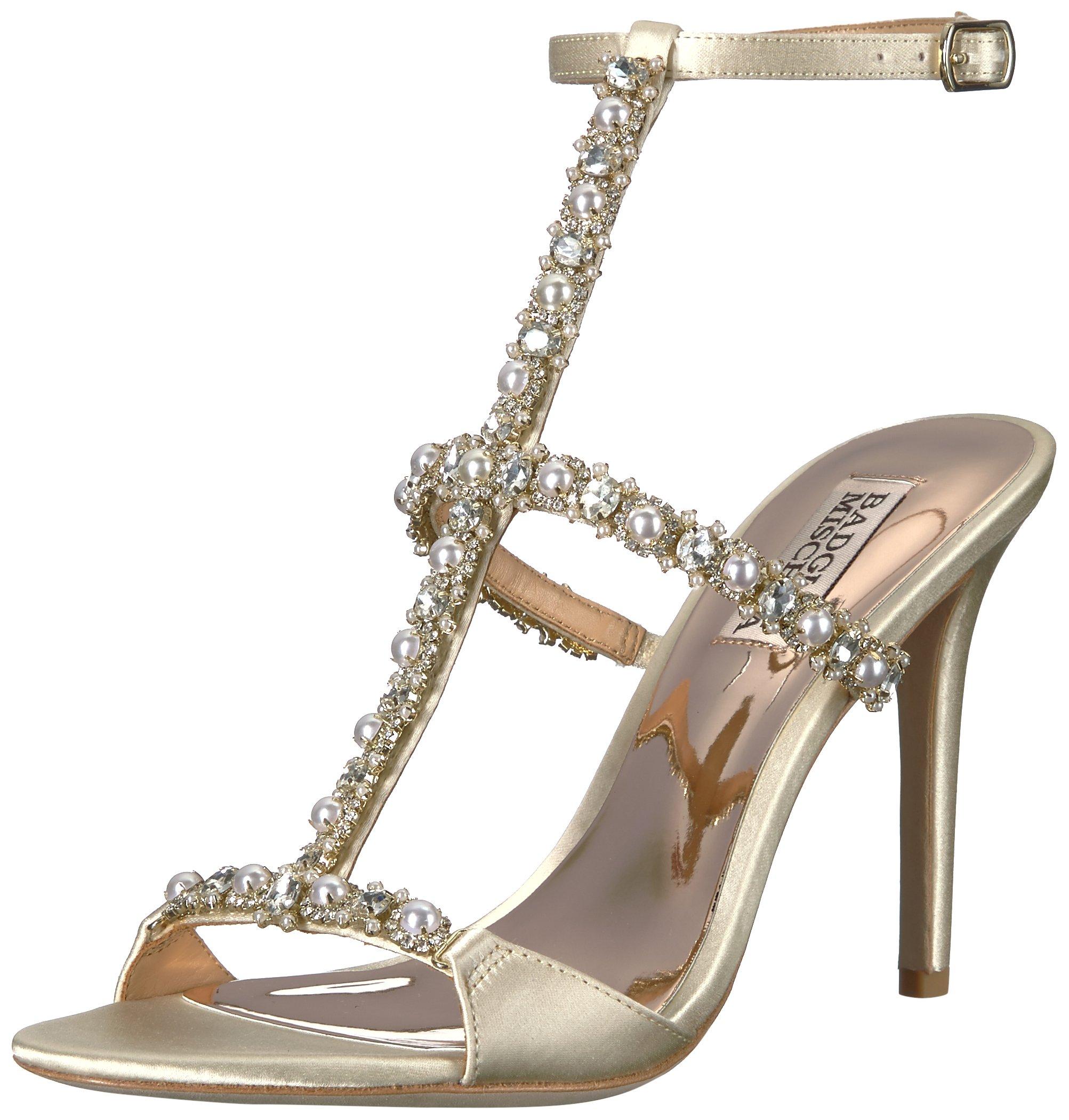 Badgley Mischka Women's Yuliana Heeled Sandal, Ivory, 6 M US