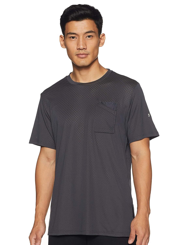 Asphalt Color Regular Fit T-Shirt For Men's