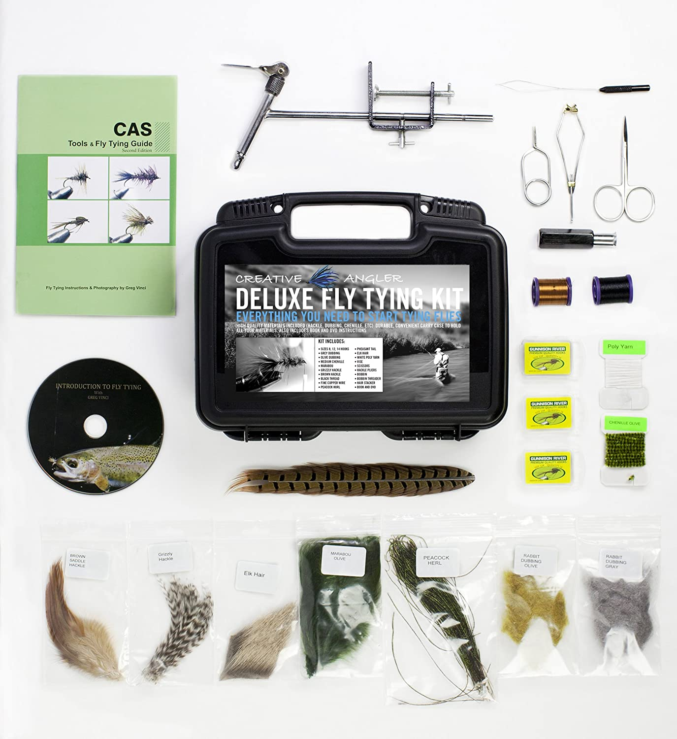 Amazon Com Fly Tying Kits Fly Tying Tools Materials Sports  # Fly Meubles Audio Bois