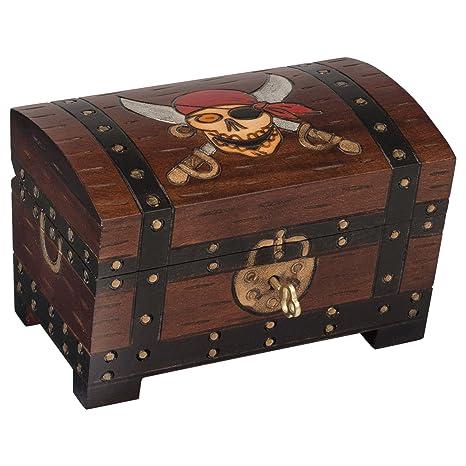 Amazon.com: Calaveras Pirata cofre del tesoro caja esmalte ...
