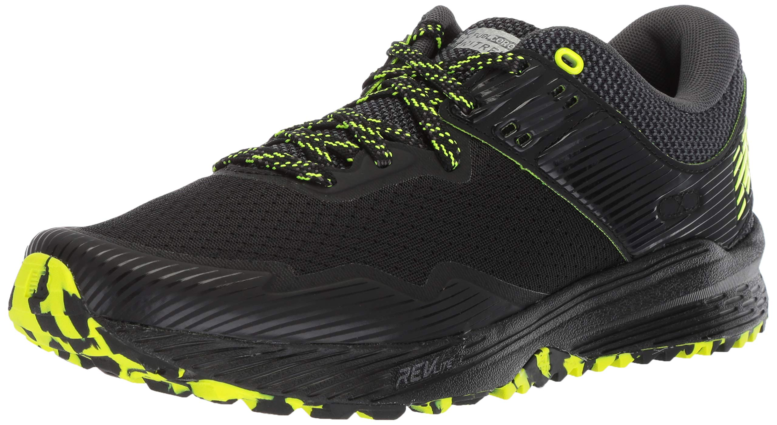 New Balance Men's Nitrel V2 FuelCore Trail Running Shoe, Black/Magnet/hi lite, 7 D US