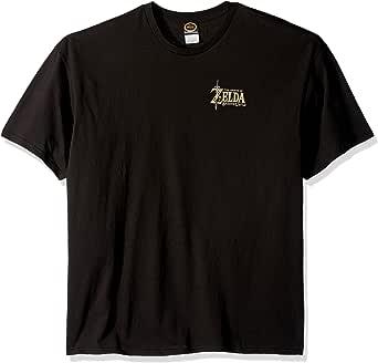 Nintendo Men's Zelda Breath of The Wild Logo Link Bow T-Shirt