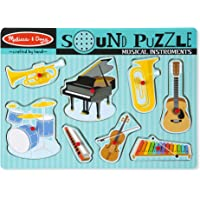 Melissa & Doug Musical Instruments Sound Puzzle - Wooden Peg Puzzle (8 pcs)