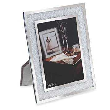 Amazoncom 5 X 7 Oleg Cassini Crystal Diamond Picture Frame